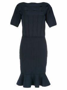 Gloria Coelho ruffled knit dress - Black