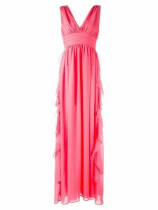 MSGM v-neck gown - Pink