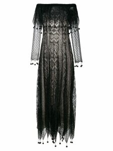 Alexander McQueen pom pom lace dress - Black