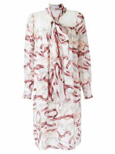 Olympiah printed silk dress - White