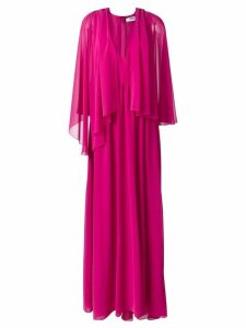 MSGM tulle pleated cape dress - Pink