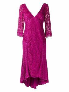 Martha Medeiros v-neck lace dress - Pink