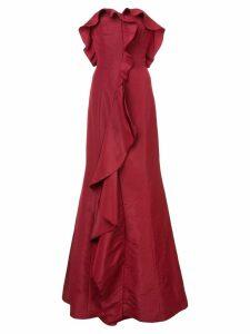 Oscar de la Renta ruffle flared gown