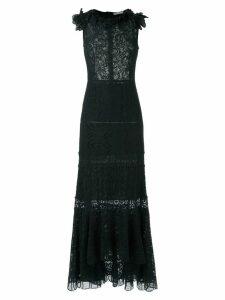 Martha Medeiros lace gown - Black