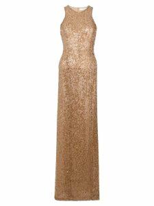 Galvan sequin racer-back dress - Brown