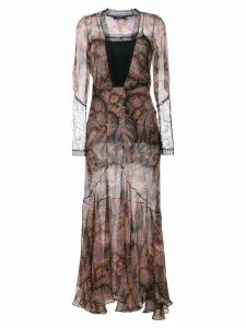 Etro paisley print evening dress - Black