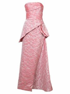 Rubin Singer rose embroidered gown - Pink
