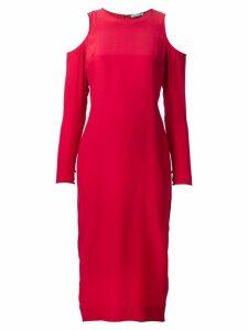 Piamita shoulder cutout dress - Red