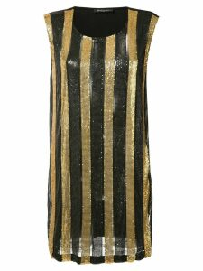 Balmain striped dress - Black