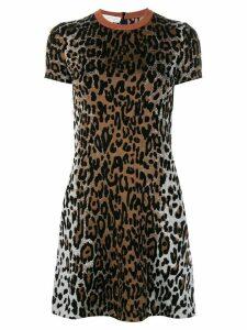 Stella McCartney cheetah print jacquard dress - Black