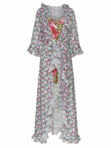 All Things Mochi floral print maxi wrap dress - Pink