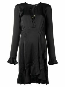 Just Cavalli wrap around frill dress - Black