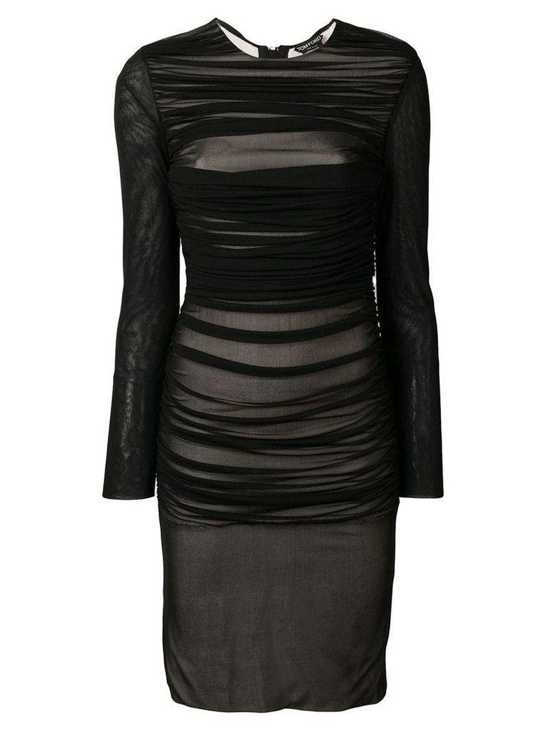 Tom Ford draped mid-length dress - Black
