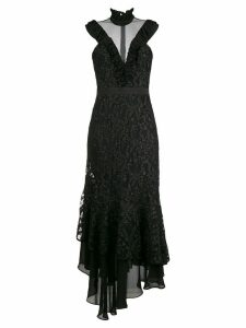 Three Floor fitted silhouette dress - Black