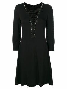 Philipp Plein flared dress - Black