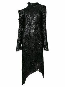 Magda Butrym asymmetric sequin dress - Black