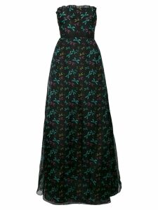 Rochas printed strapless dress - Black