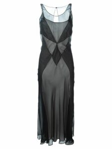 Maison Margiela semi-sheer panelled dress - Black