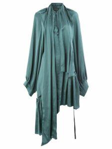 Ann Demeulemeester mid-length dress - Blue