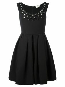 Fendi studded crepe dress - Black