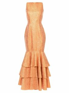 Bambah double ruffle gown - Yellow