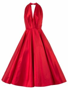 Romona Keveza plunge full skirt gown - Red