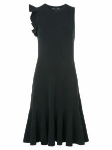 Proenza Schouler Sleeveless One Shoulder Ruffle Dress - Black