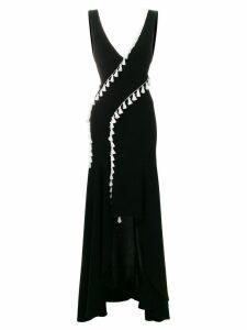 Galvan slit tassel dress - Black
