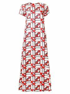 La Doublej long length patterned swing dress - Red