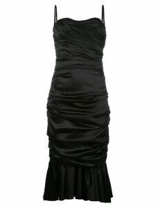 Dolce & Gabbana ruched bustier dress - Black