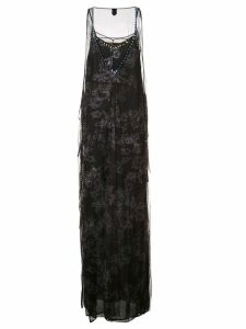 Vera Wang crystal embellished tulle gown - Black