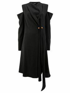 Litkovskaya draped cold shoulder dress - Black