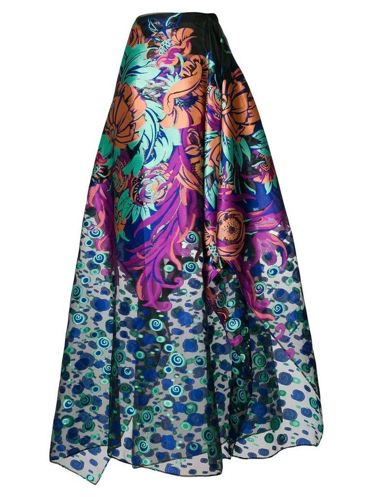 Talbot Runhof floral coupé dress - Multicolour