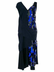 Diane von Furstenberg draped sequin gown - Black