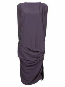 Rick Owens woven nouveau draped dress - Purple