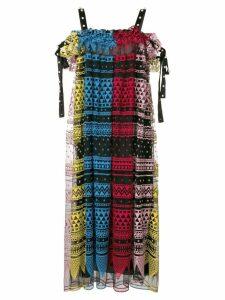 Philosophy Di Lorenzo Serafini geometric embroidered dress -