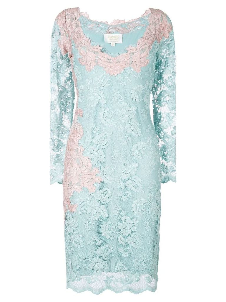 Olvi´S lace-embroidered dress - Blue