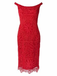 Martha Medeiros lace midi dress - Red