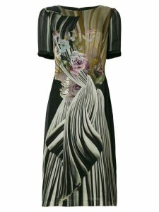 Alberta Ferretti floral fitted midi dress - Black
