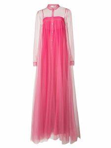 Vionnet long pleated sheer dress - Pink