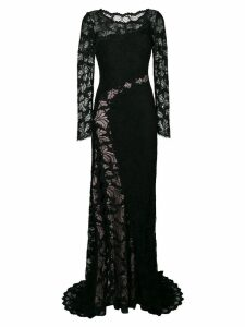 Olvi´S lace-embroidered maxi dress - Black