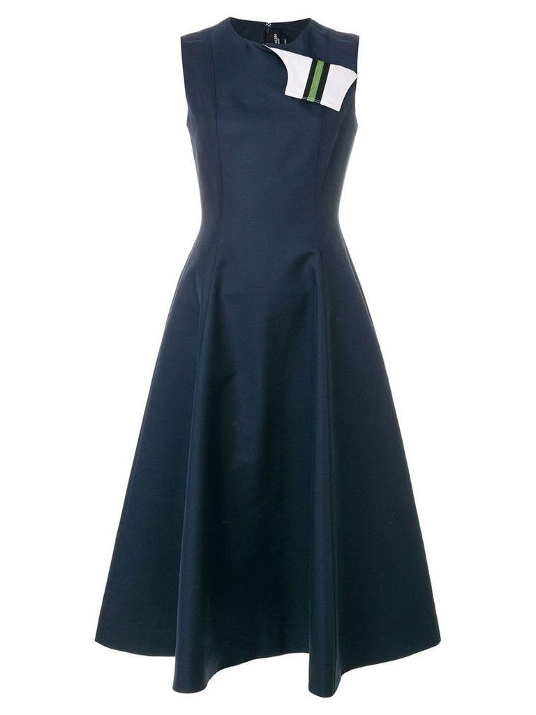 Calvin Klein 205W39nyc fold flap flared dress - Blue