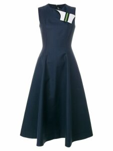 Calvin Klein 205W39nyc fold flap flared dress - Blue
