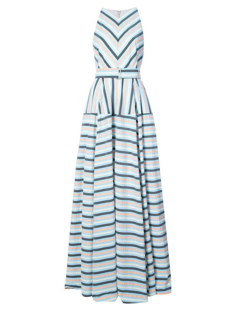 Lela Rose Capitol xx Collection striped maxi dress - Blue