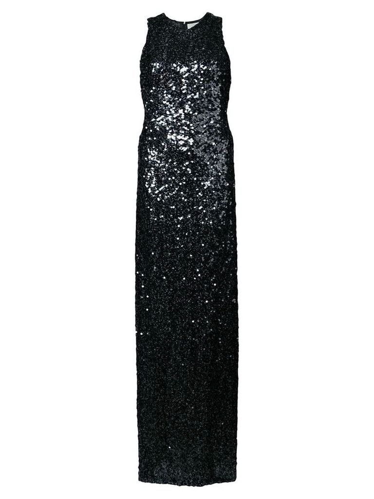 Galvan sequined gown - Black