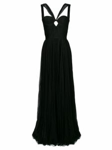 Dsquared2 fitted bustier flared gown - Black