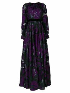 Talbot Runhof lamé jacquard dress - Black