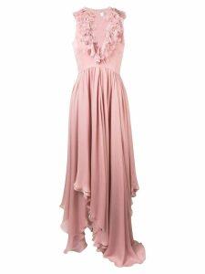 Anna Molinari ruffle neck dress - Pink
