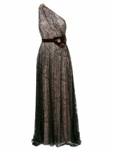 Talbot Runhof laminated dress gown - Black