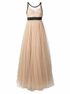 Nº21 sheer tulle evening dress - Neutrals